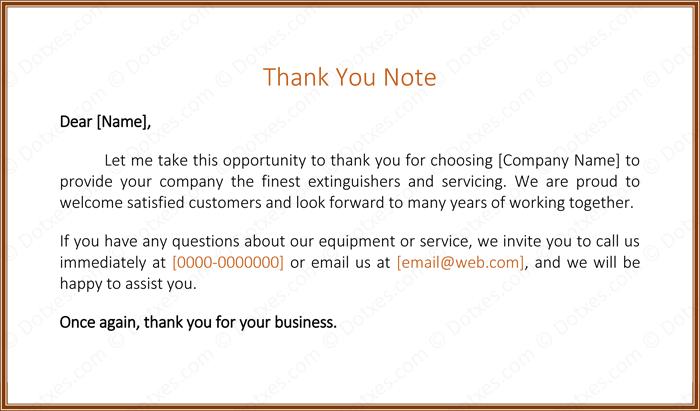 Customer Appreciation Thank You Letter Sample