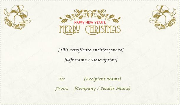 Christmas Gift Certificate (Light Floral Design)