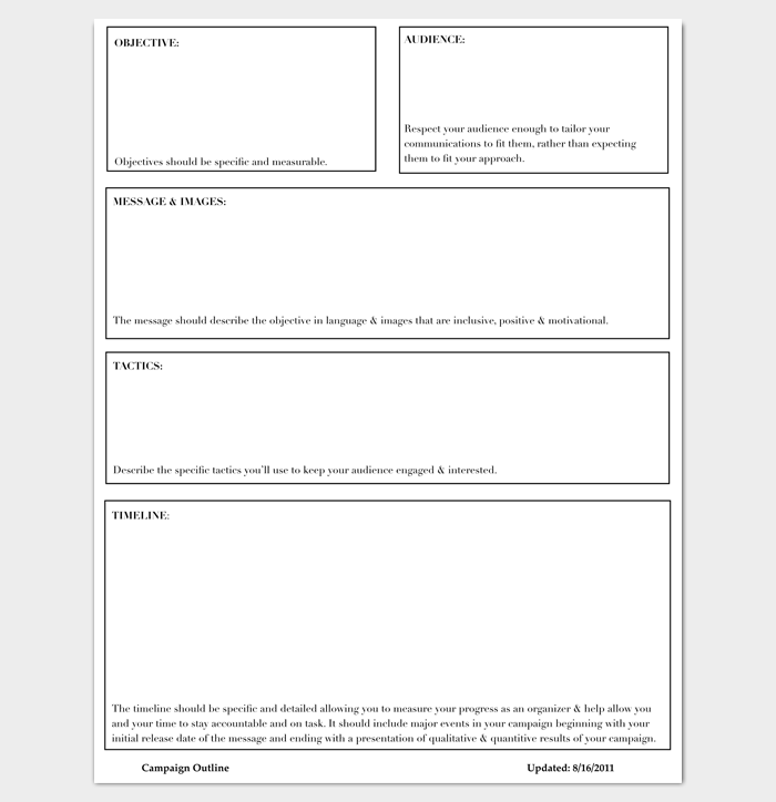 Project Outline Template - 15+ Sample, Example, Format ...