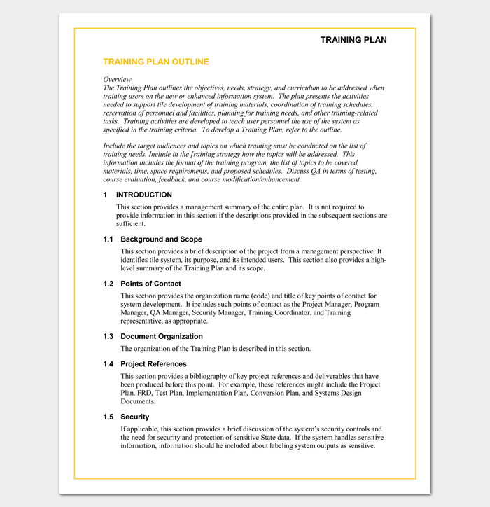 customer service training outline template