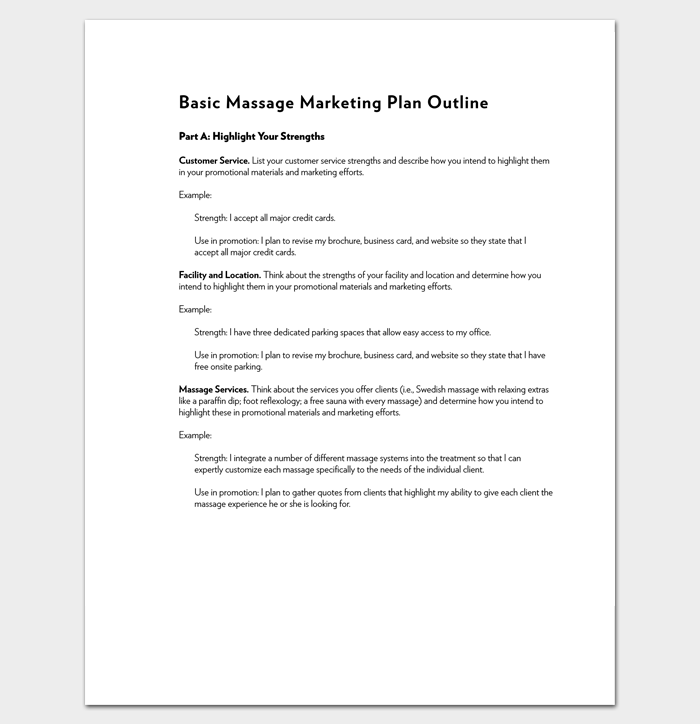 marketing plan outline template 16 examples for word pdf format