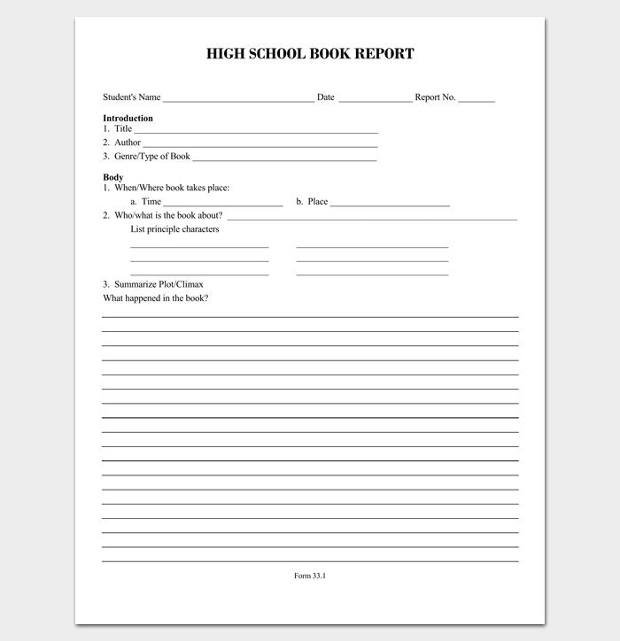 high school outline format