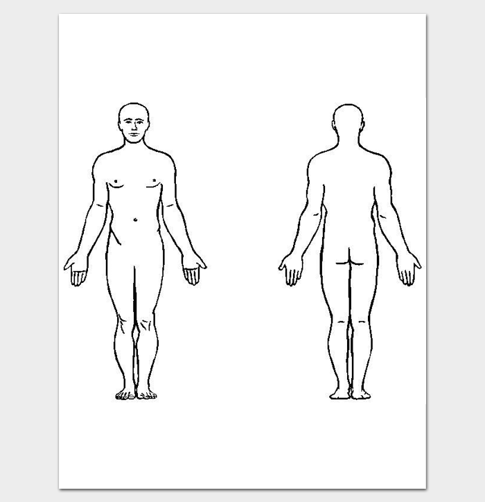 photograph about Printable Outline of Human Body Front and Back identify determine of human physique entrance and back again - Kadil