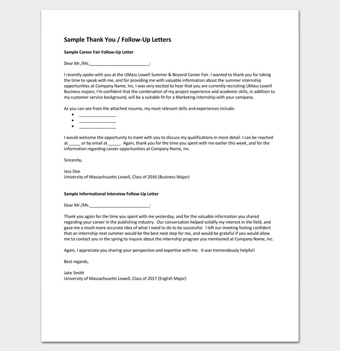 Business Follow Up Letter in PDF 1
