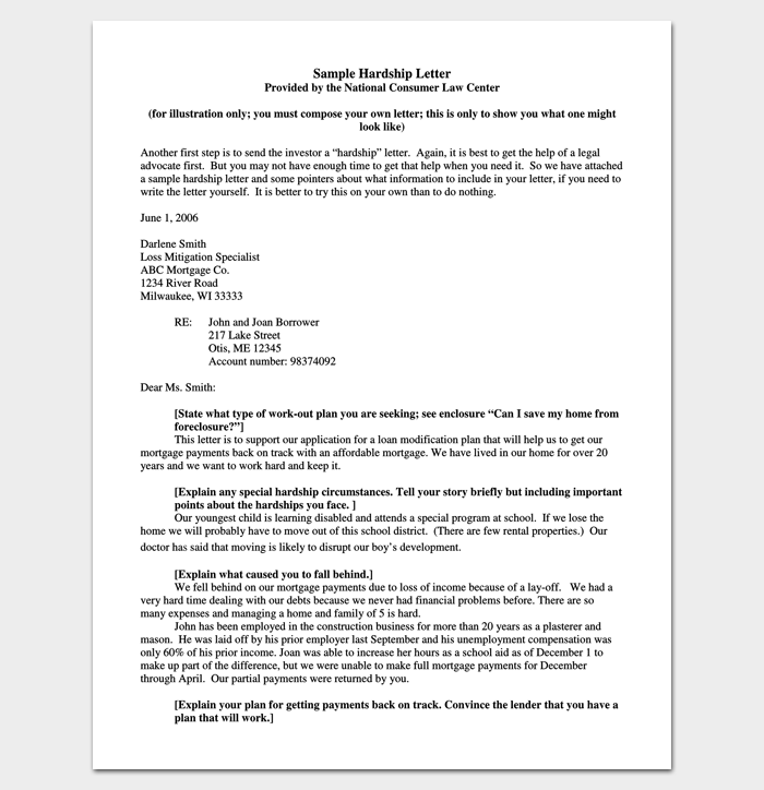 Mortgage Hardship Letter PDF Format 1