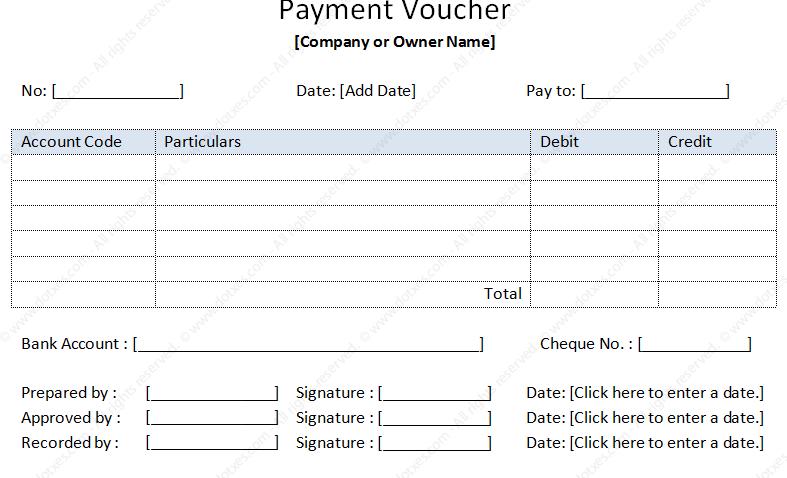 payment voucher sample template