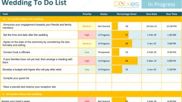 Wedding To Do List Template – Ideal Planning Checklist