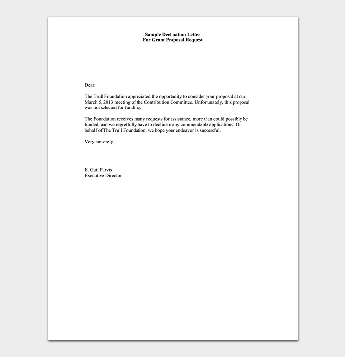 marriage proposal rejection email