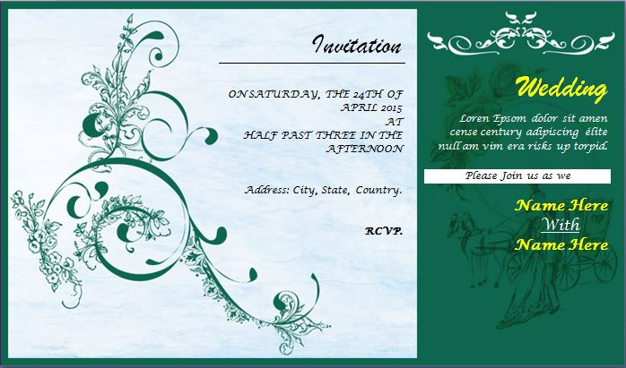How Word Wedding Invitations