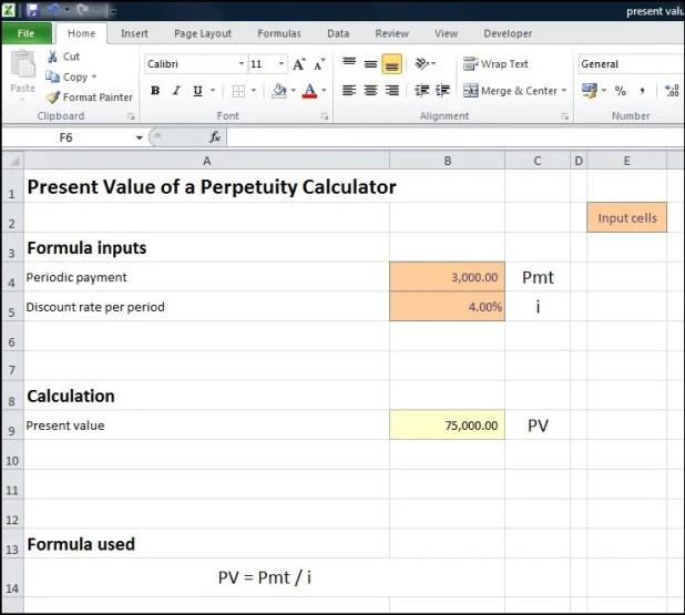 annuity due table formula