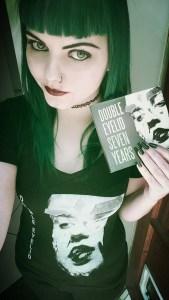 Jossie models a Double Eyelid t-shirt