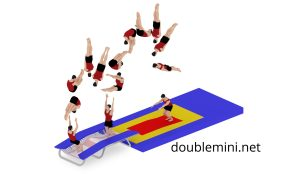 double mini trampoline net jump backflip somersault how to