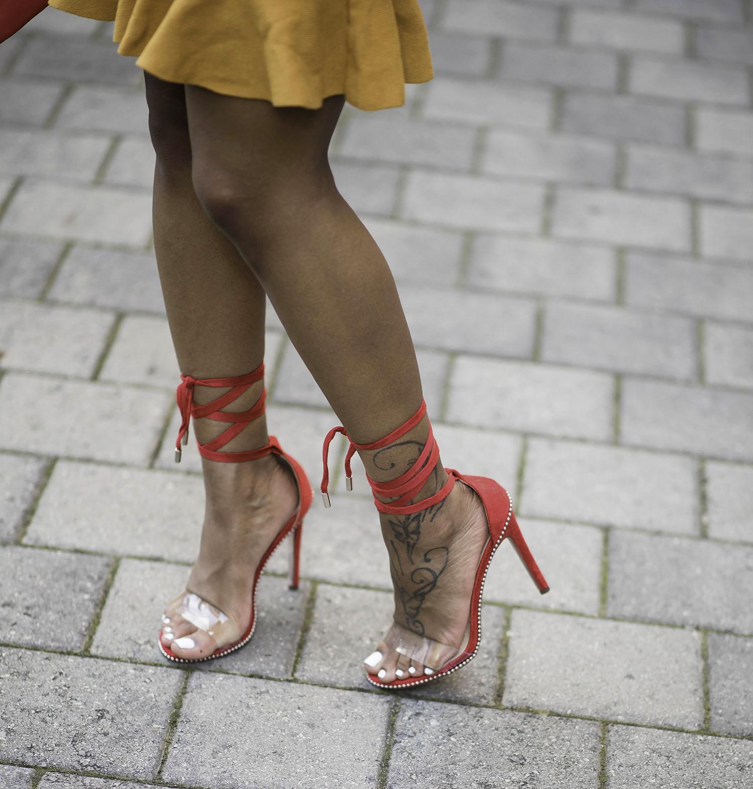 710a536df4b Hot Stuff - Red Tie-Up Heels - DoubleOStyles