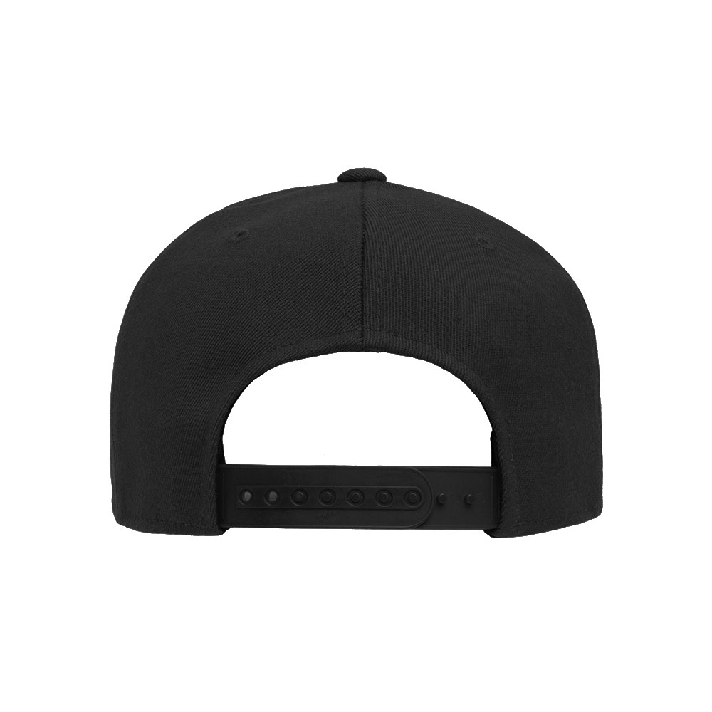 Flexfit-110F-Flatbill-Snapback-Black-Hat-back