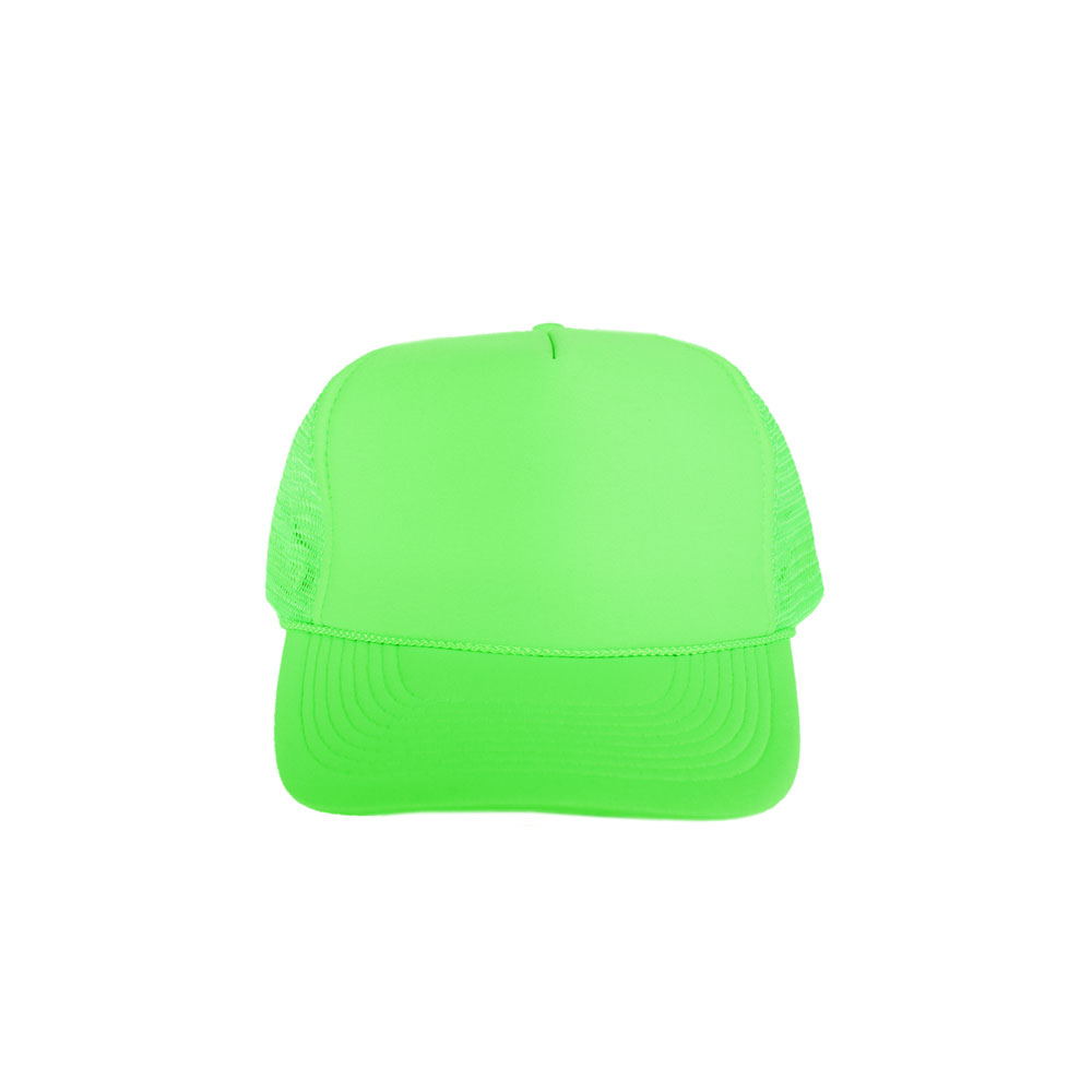 Solid-Neon-Green-Foam-Trucker