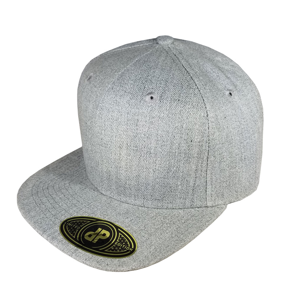 Solid-Heather-Flatbill-Snapback-Hat