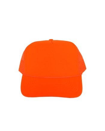 Solid-Neon-Orange-Foam-Trucker