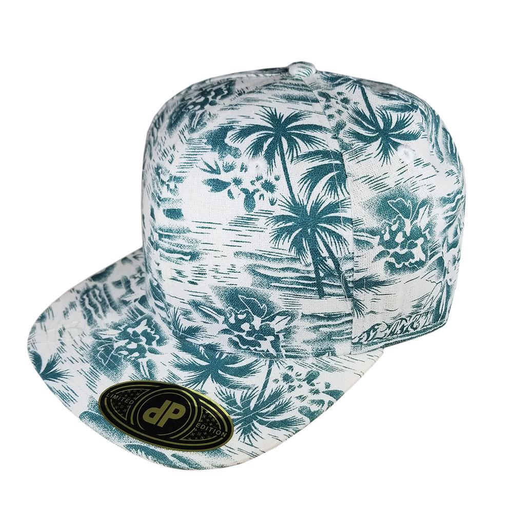 Moss-Palms-Floral-Flatbill-Snapback-Hat