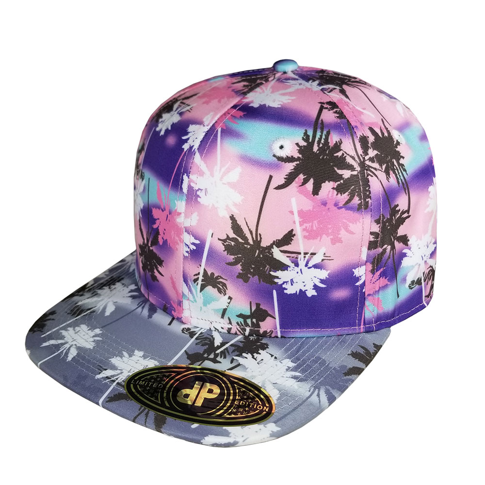 Pink-Palms-Palm-Tree-Snapback-Hat