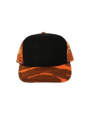 Black-Orange-Camo-Foam-Trucker