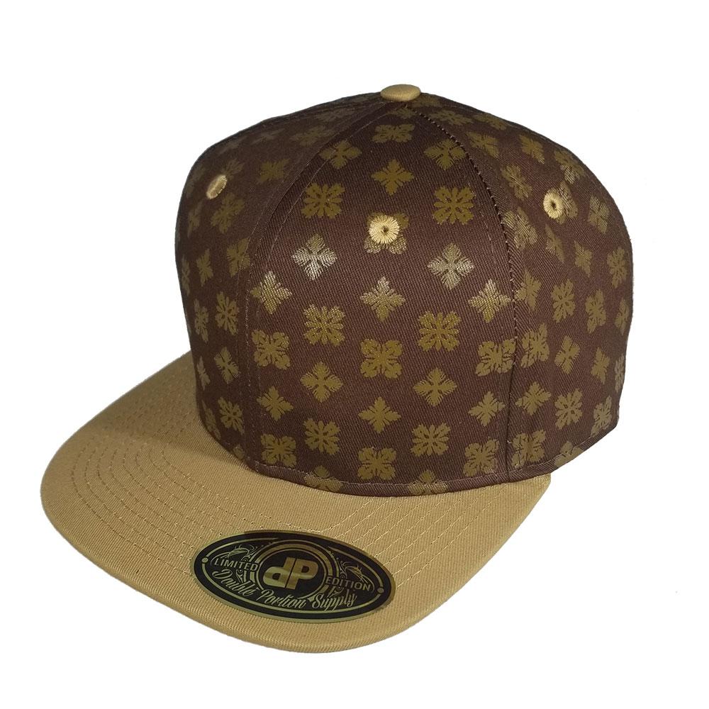 df5f76fa34b35 Blank Hat  Hawaiian Quilt© Brown   Tan Flatbill Snapback