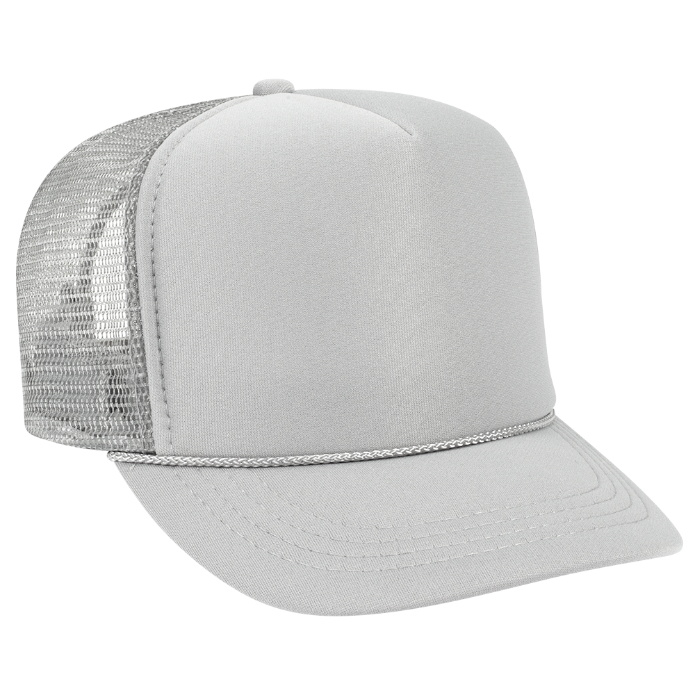 Silver Gray Youth Foam Trucker Front