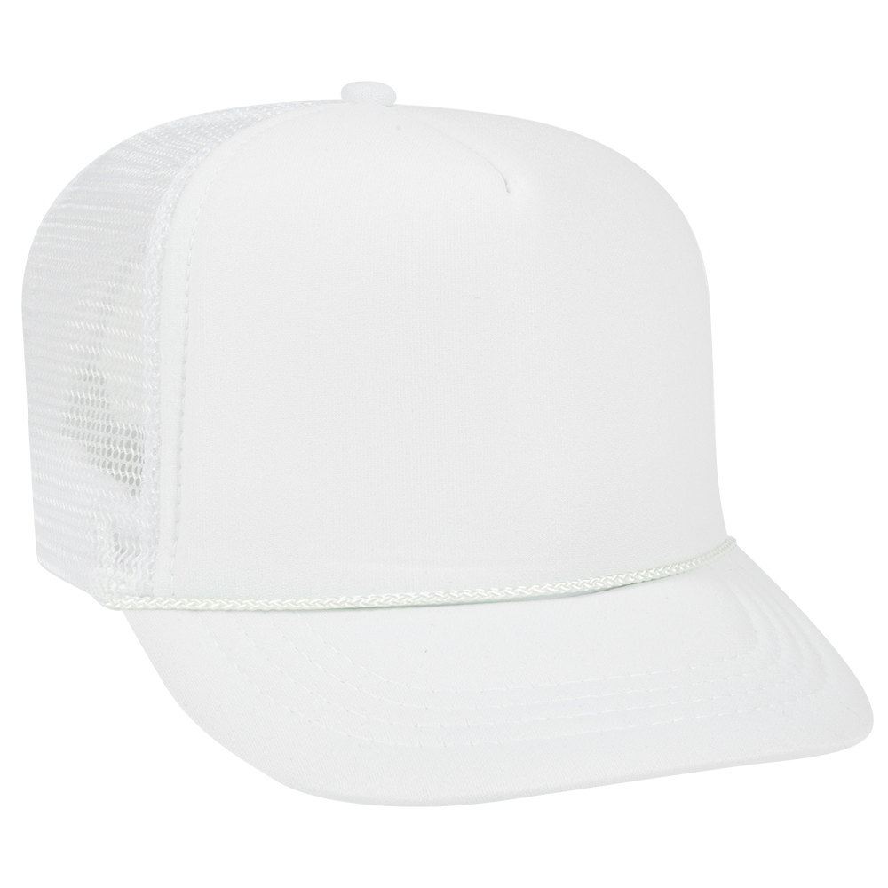 White Youth Foam Trucker Front