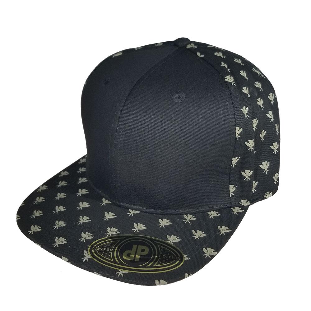 Black-Kahili-Pattern-Snapback-Hat