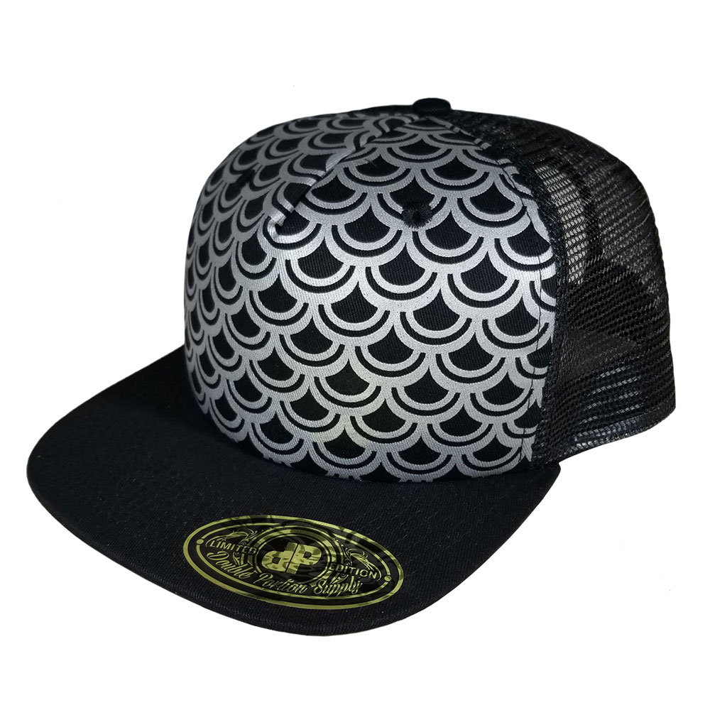 Scales-Silver-Black-Snapback-Hat