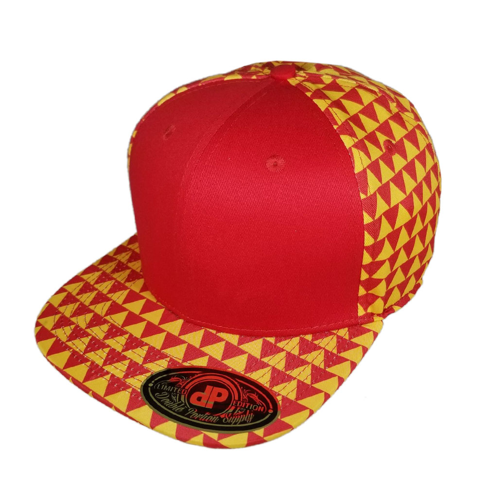 Red-Yellow-Triangles-Snapback-Hat