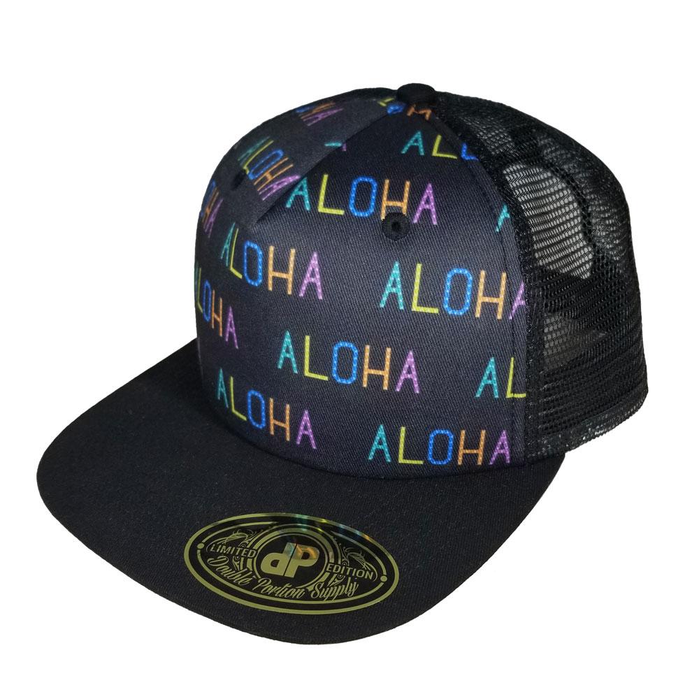 Aloha-Pattern-Mesh-Snapback