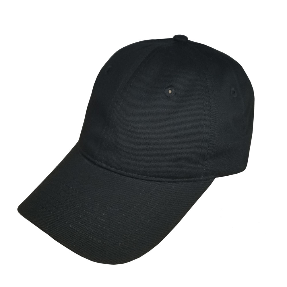ba746bff7f5bb Blank Dad Hat (Low Profile Curved Bill)  Solid Black – Double ...