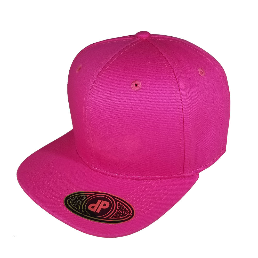 All-Full-Solid-Hot-Pink-Flatbill-Snapback-Hat