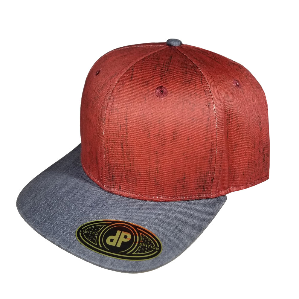 Red-Denim-Gray-Denim-Bill-Snapback-Hat