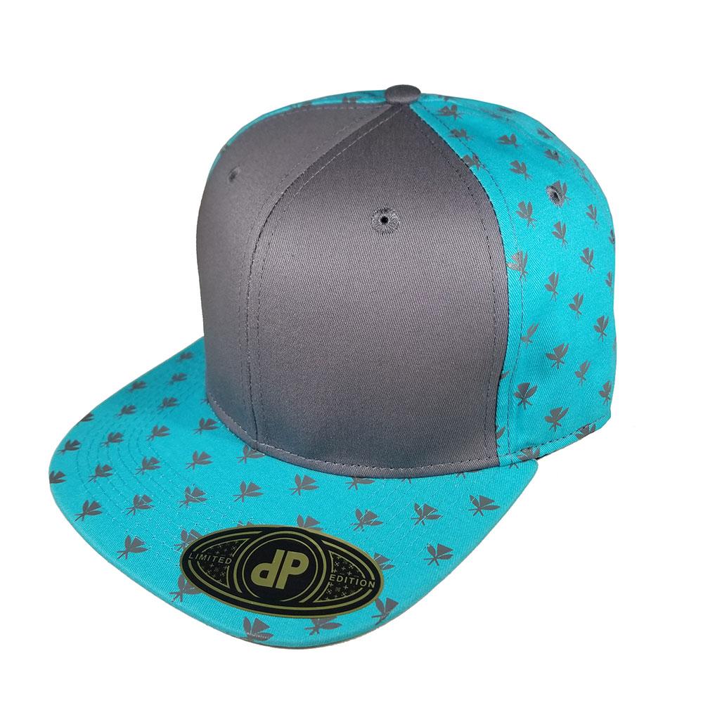 Mint-Kahili-Gray-Flatbill-Snapback-Hat-Cap
