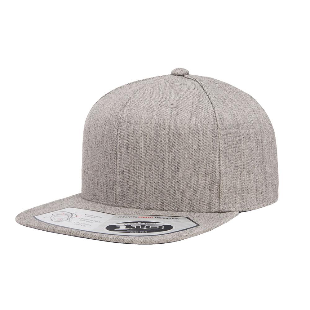 Flexfit-110F-Flatbill-Snapback-Heather-Gray-Grey-Hat