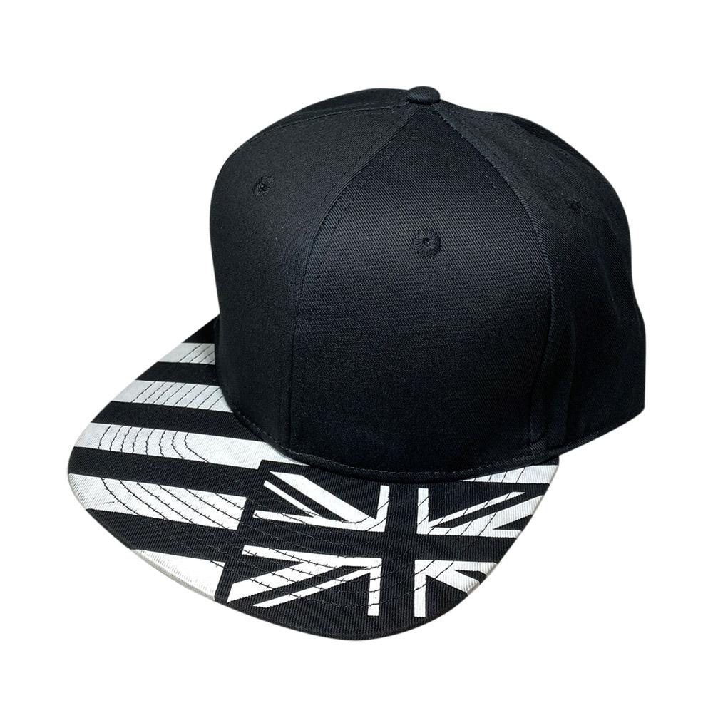 blank-hat-snapback-flat-bill-black-white-hawaiian-flag-bill