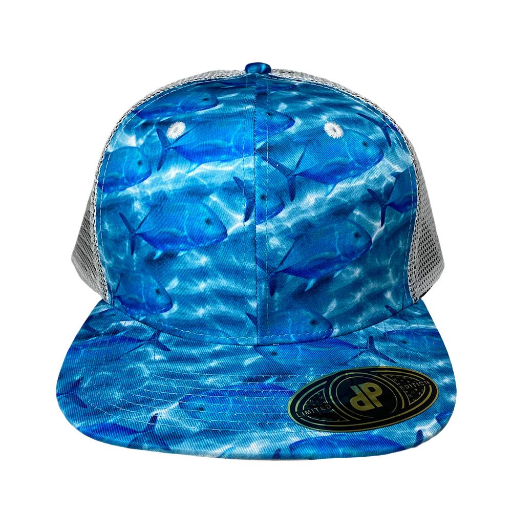 blank-hat-snapback-flat-bill-ulua-white-mesh-hawaiian-flag-underbill-front