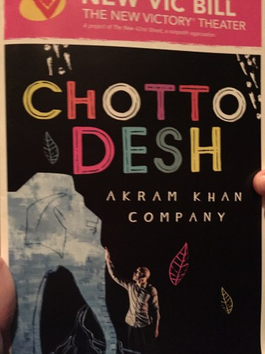 Performance Review #1: Chotto Desh at the New Victory Theater, NYC