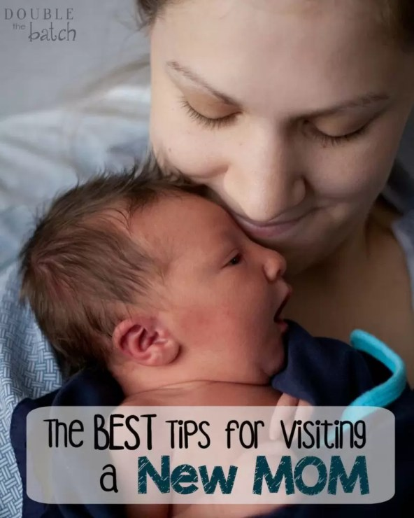 The best tips for visiting a new mom! Wish I had known these when visiting my new mommy friends!