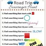 Travel Scavenger Hunt Printable