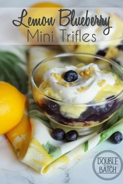 Lemon Blueberry Mini Trifles