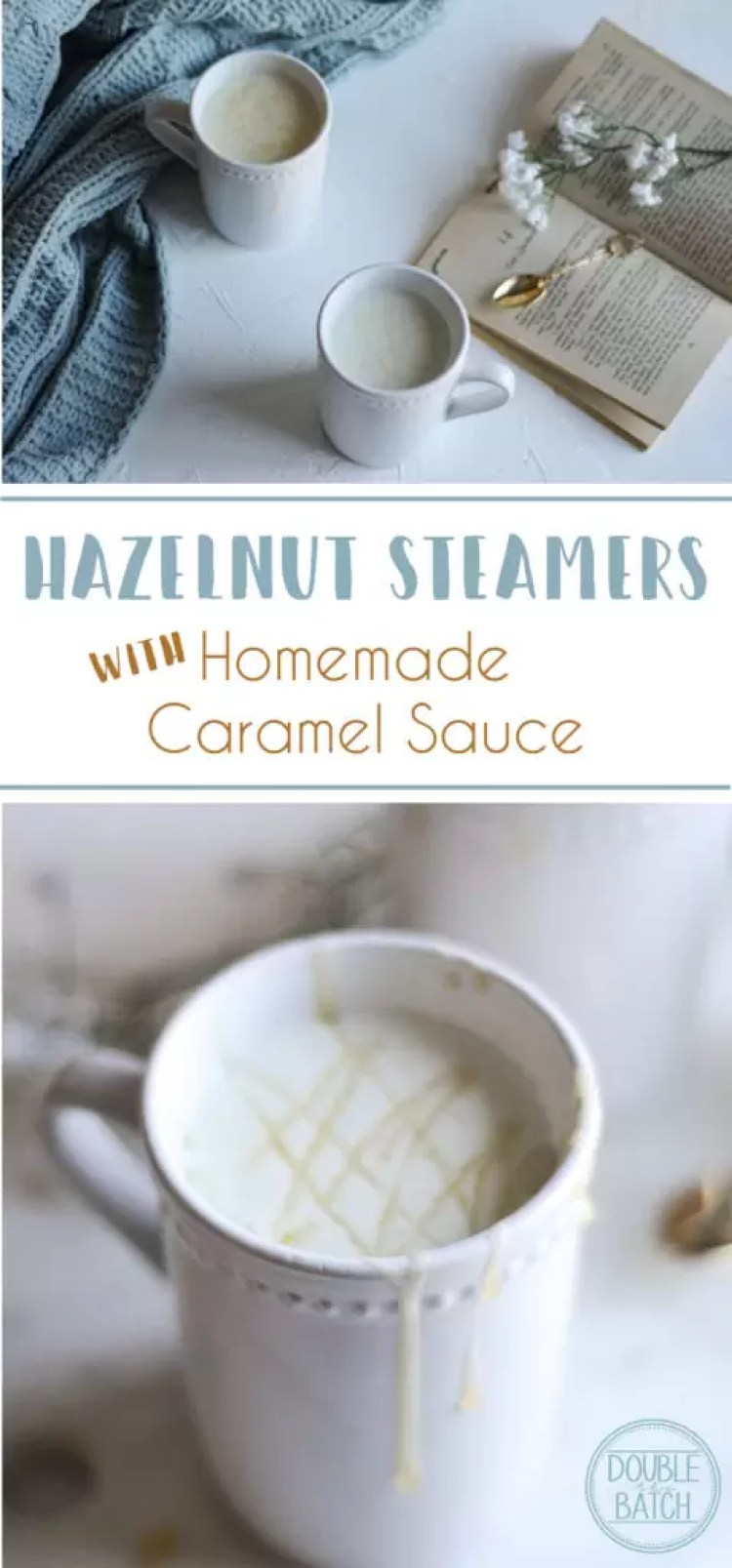 This creamy hazelnut steamer is the perfect winter pick me up for people who don't drink coffee, but love a hot creamy drink when it's cold out.