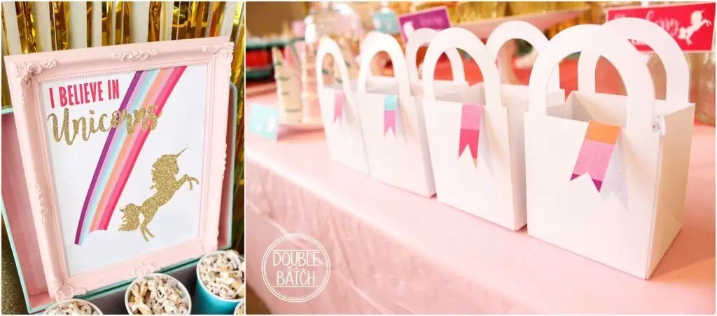 Unicorn Party for perfect little princess -pink and turqouise