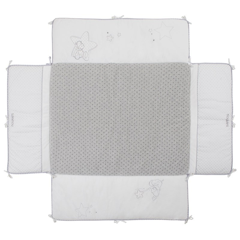 noukies tapis de parc poudre d etoiles 75x95 cm livraison gratuite 24 48h