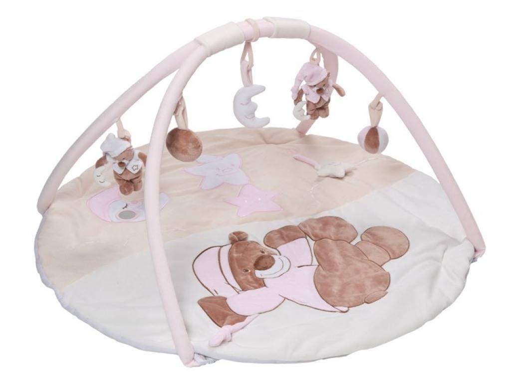 nattou tapis eveil ours bibou rose doudouplanet livraison gratuite 24 48h