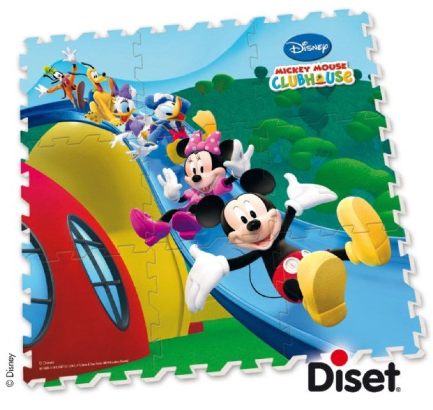 tapis puzzle en mousse mickey club house