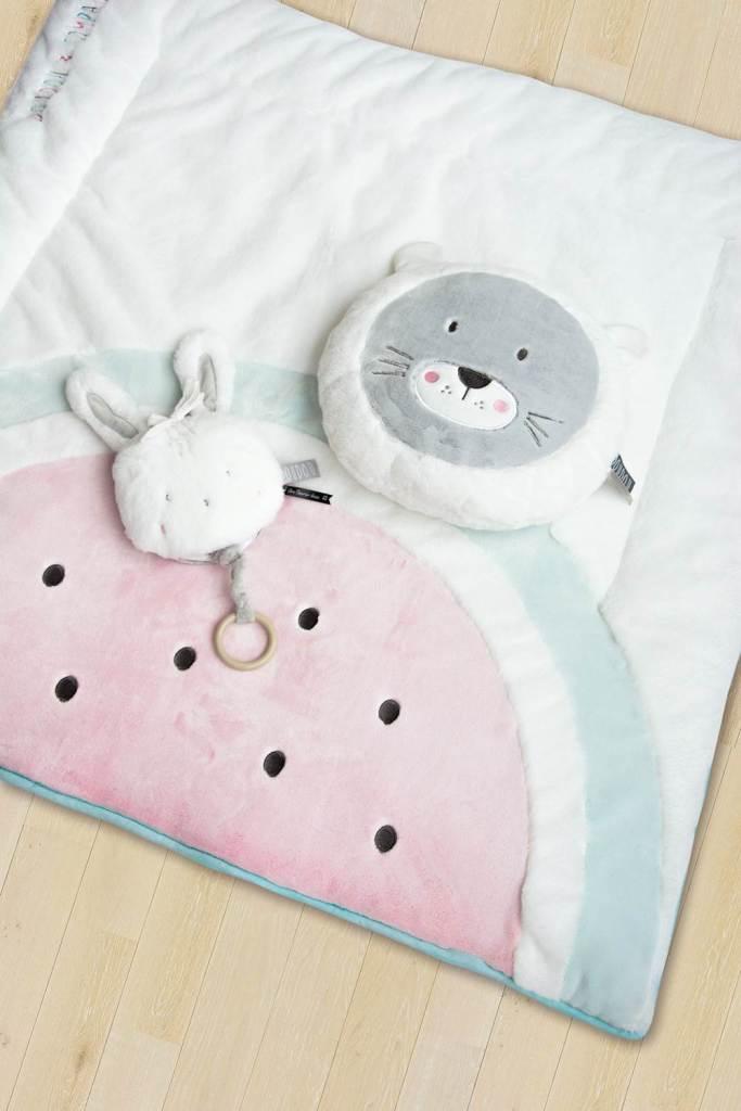 doudou et compagnie tapis de parc tapidou pasteque 100x100 cm livraison gratuite 24 48h