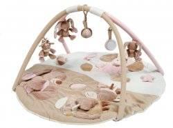 nattou tapis d eveil rigolos rose doudouplanet livraison gratuite 24 48h