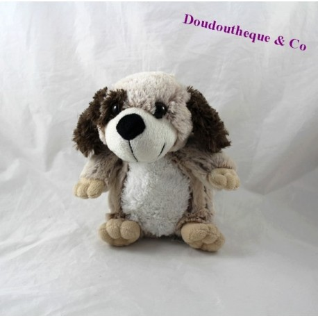 doudou chien doudi marron blanc 21 cm
